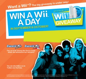 The Brunswick Wii-a-Day Giveaway saw strong results from a push in social media sites like Facebook.