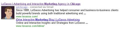 "Social Search Result from the Query ""Chicago Marketing"""