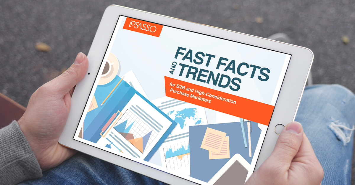 Fast facts and trends for B2B and high-consideration purchase marketers | LoSasso Integrated Marketing