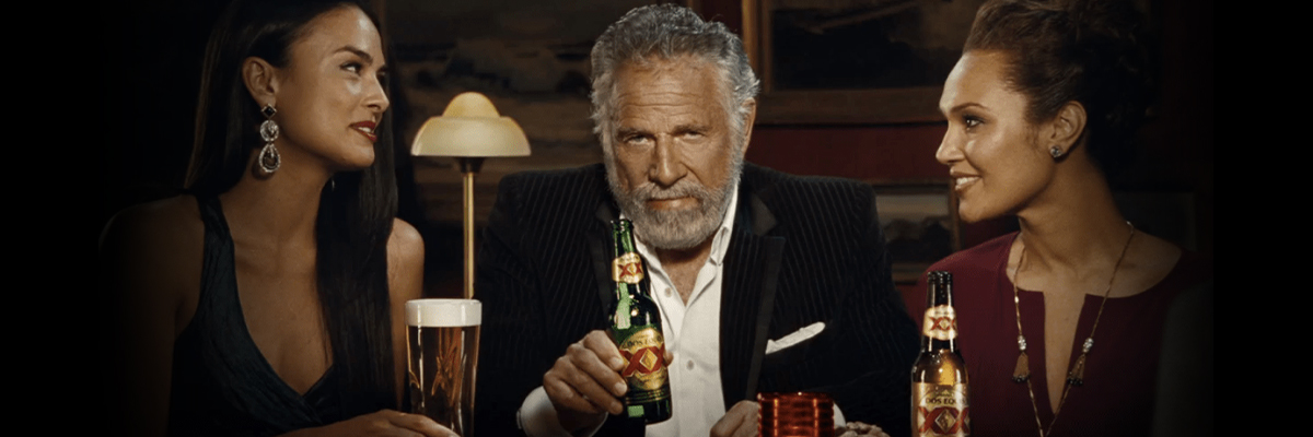 Dos Equis Most Interesting Man in the World campaign ad